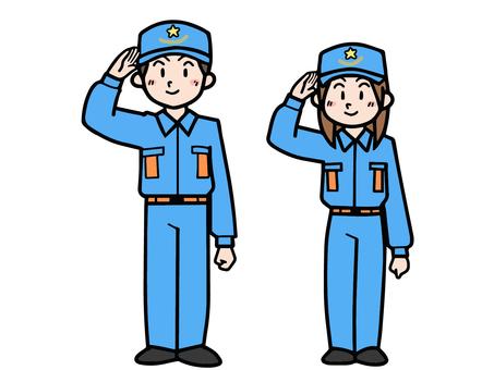 Firefighting staff