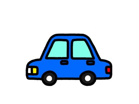 Passenger Car Blue