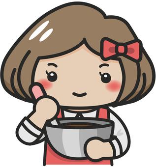 Girls making sweets
