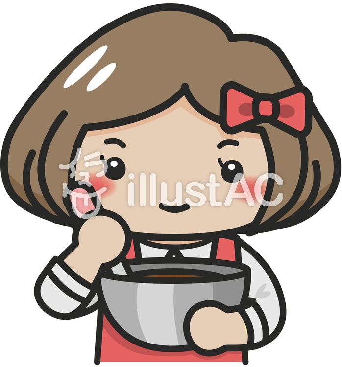 お菓子作りをしている女の子イラスト No 335178無料イラストなら