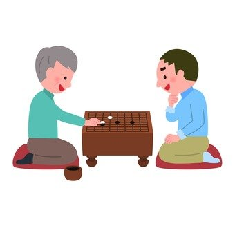 Two men enjoy Go