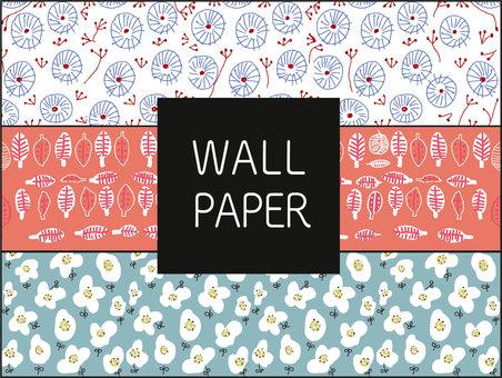 Scandinavian style wall paper