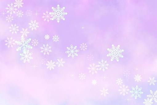 Snow background purple