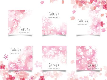 Cherry blossom frame set ver 33