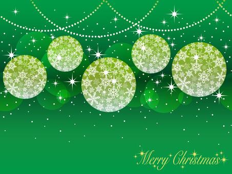 Seamless Christmas ball background green