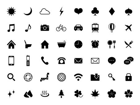 Standard icon set [6] silhouette