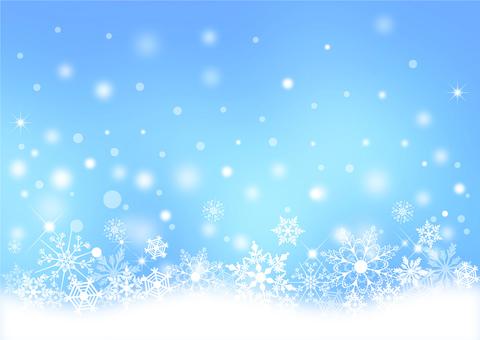クリスマス_淡いブルー背景2184