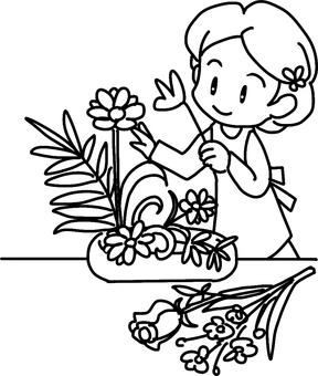 Ikebana (line drawing)