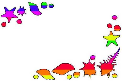 Rainbow-colored shellframe