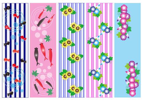 Summer Japanese style pattern set