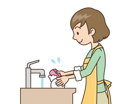 Person / Woman / Wash