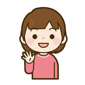 손 흔들기 아이