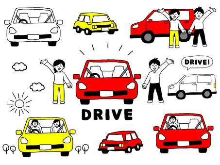 Car driving set (simple)