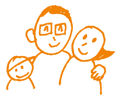 Hand-painted _ Family _ Orange