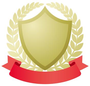 Shield-shaped emblem