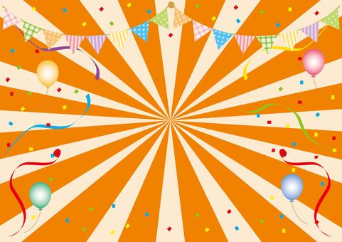 Radial _ orange background