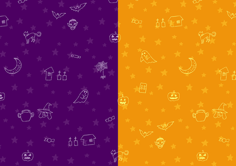 Halloween background material seamless pattern