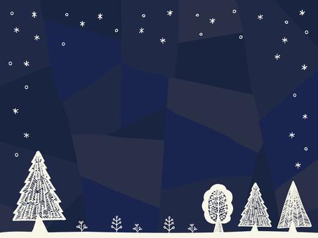 Illustration of winter forest 02