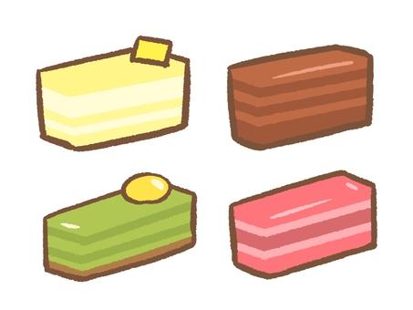 사각형 케이크 세트