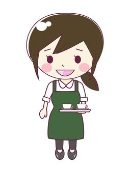 음료를 가진 카페 점원 1