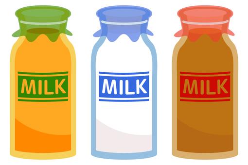 Milk, fruit milk, coffee milk 2