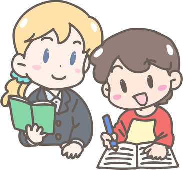 Teacher and student (foreigner)