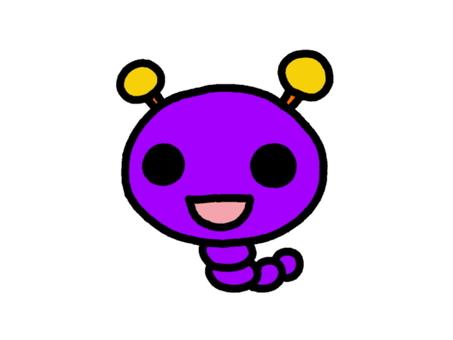 Caterpillar purple