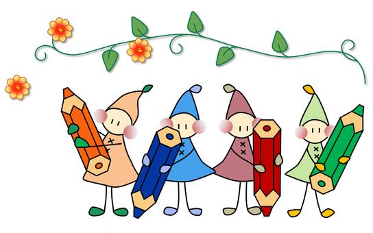 Childhood color pencil _ Flower
