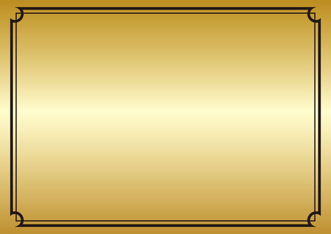 Corner decorative ruled background material <Gold color>