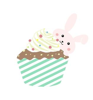 mini usa and cupcake