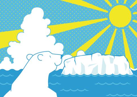 海と氷河とシロクマ2