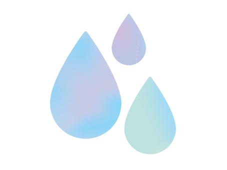 Large watercolor drop