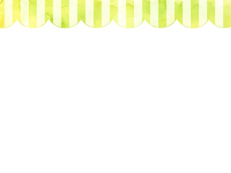 Watercolor stripe frame 1 green