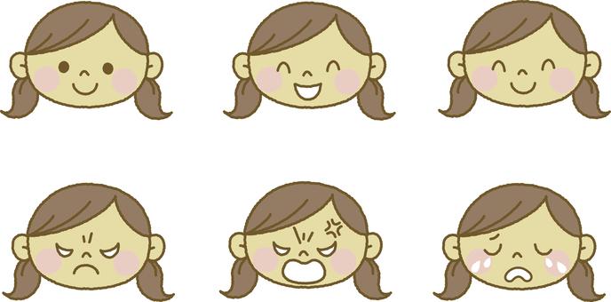 Facial expression girl