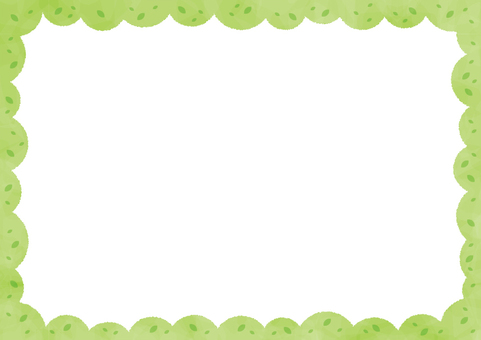 Background _ Green tree _ outer frame
