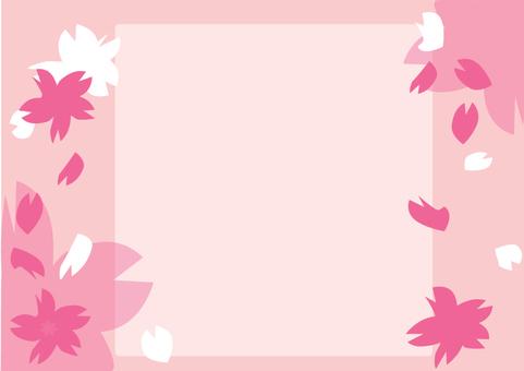 Cherry blossom frame 3 A4