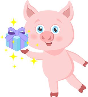 豬帶著禮物