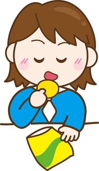 Illustrations Free girls Sweets