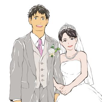 웨딩의 남녀
