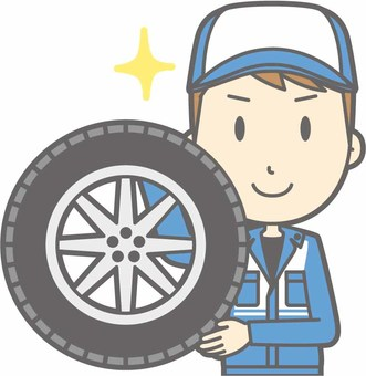 Mechanic male a - tire - bust
