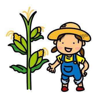 玉米和女孩