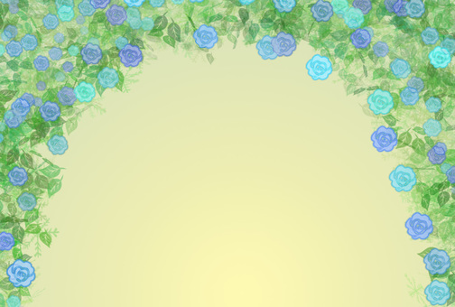 Roses arch (blue)
