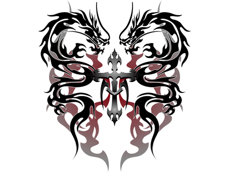 Tribal dragon - 003