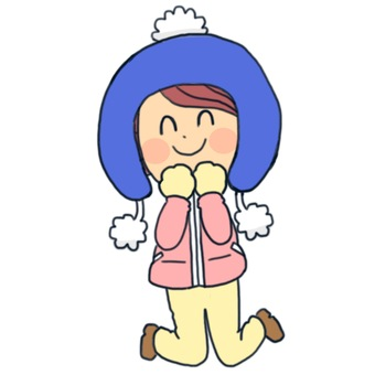 Winter clothing girl
