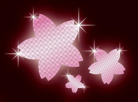 봄의 벚꽃의 꽃잎 (홀로그램 핑크)