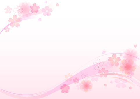 Cherry blossom material 145