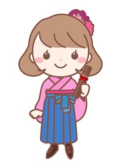Hakama graduation ceremony girl · pink