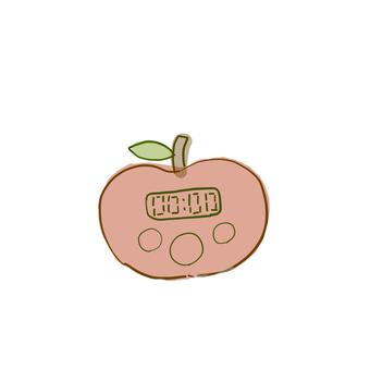 사과 형 주방 타이머