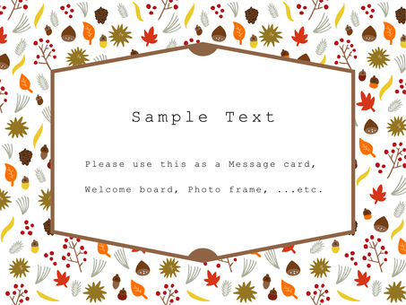 Autumn post card 01