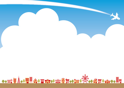 Townscape and sky background material
